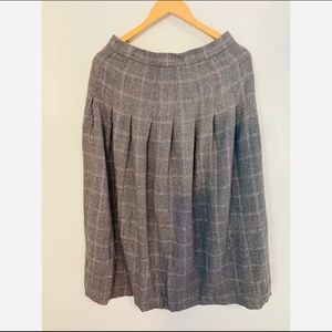 Vintage 100% Wool Plaid Skirt Size 14